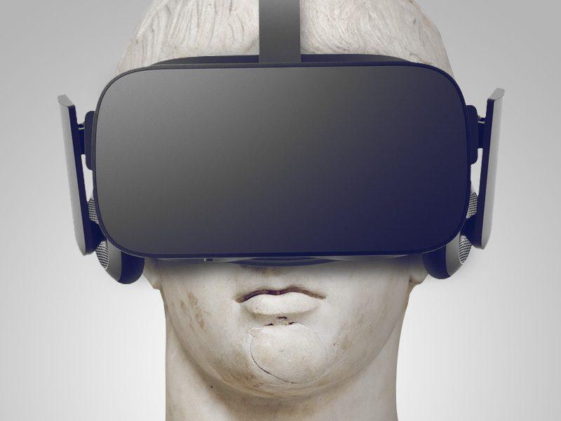 Greek Statue with Oculus Rift