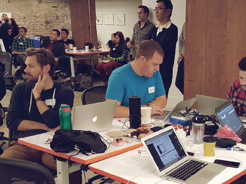 Rosetta Stone Hackathon crowd